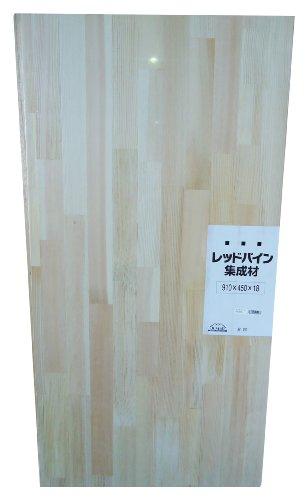 JUMBO レッドパイン集成材 シュリンク済み 910X18X450mm