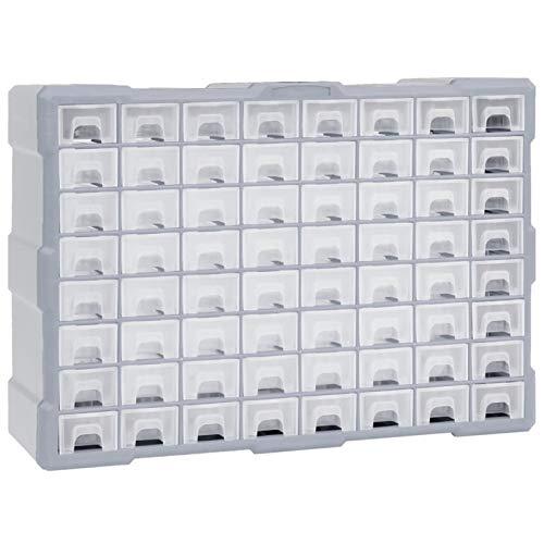 pedkit Organizador Multicajones Organizadores de Herramientas Caja de Almacenamiento Armario de Herramientas con 64 Cajones 52 x 16 x 37,5 cm