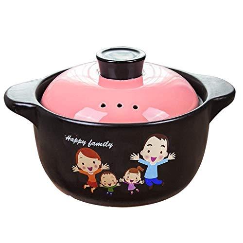 WYJBD Cacerola de cerámica Salud Sopa de Olla hogar Crisol de guisado de Alta Temperatura de la Llama Sopa de Olla de cazuela