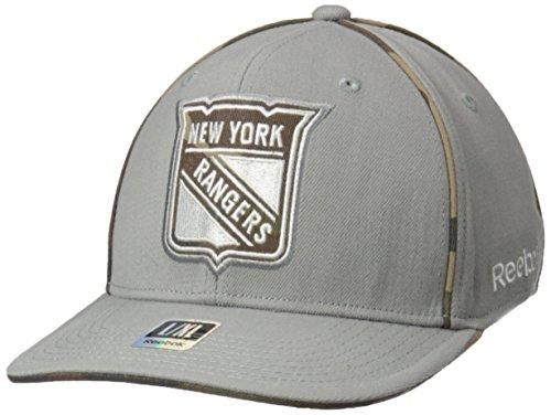 Reebok NHL New York Rangers Herren SP17 graue Camo strukturierte Flex Cap, grau, L/XL