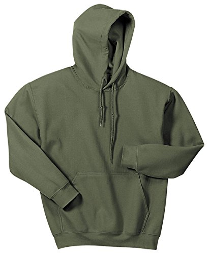 Gildan Men's Heavy Blend Hooded Sweatshirt Military Green L