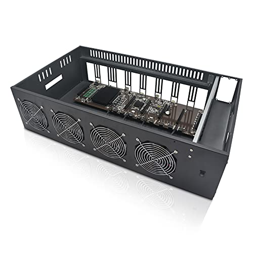 MLLIQUEA 8 GPU Mining Rig Frame, Mining Machine System & Platform,...