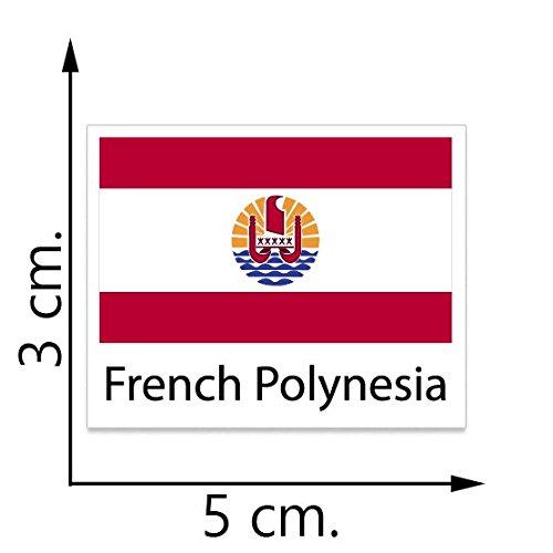 French Polynesia Flag Temporary Tattoos Sticker Body Tattoo