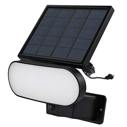 Wasserstein 2-in-1 Solar Panel Charger & Security Light Compatible with Blink Outdoor & Blink XT2/XT Camera (Black)