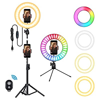 """10"""" Selfie Ring Light with Tripod Stand and Cell Phone Holder"""