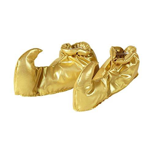 Widmann 9563S - Schuhüberzieher, Araber, Überschuhe, 1001 Nacht, Gold, Kostümzubehör, Accessoire, Mottoparty, Karneval