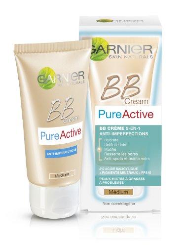 Garnier Skin Active - BB Crème Pure Active 5-en-1 Anti-Imperfections Médium 50 ml