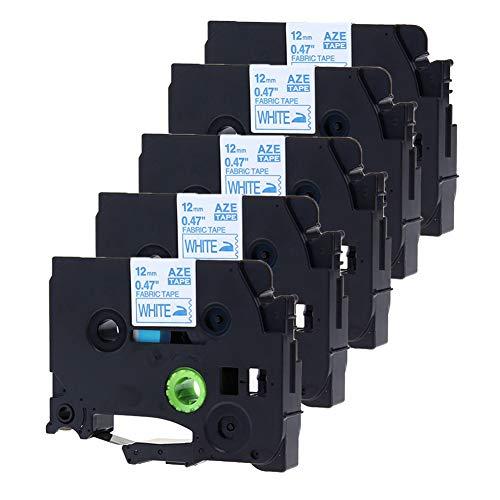 negro sobre blanco Printing Pleasure TZe231 12mm x 8m Pack de 5 Cintas laminada estand/ár para impresoras de etiquetas Brother P-Touch