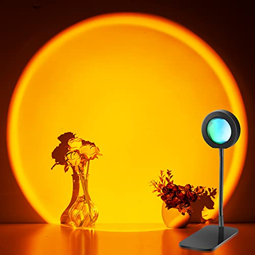 Litchi Sunset Lamp, Sonnenuntergang Lampe-Sunset Projection Lamp,360° Drehung USB Led Projektor Licht, Sonnenlicht Lampe Nachtlicht , Deko Wohnzimmer Schlafzimmer,Wand Dekorationen