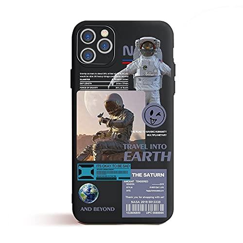 GGOIl Fashion Universe Funda para teléfono para iPhone 12 Pro MAX Mini 11 Pro XR XS MAX 6 6S 7 8 Plus SE 2020 12 Estuches espaciales Estuche Suave, T037B23, para IP 7 Plus 8 Plus