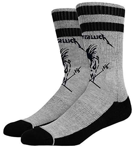 Metallica 'Scary Guy' (Grey) Socks (UK 5.5-8)