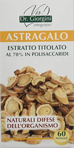 Dr. Giorgini Integratore Alimentare, Monocomponenti Erbe Astragalo Estratto Titolato al 70% in Polisaccaridi Pastiglie - 30 g