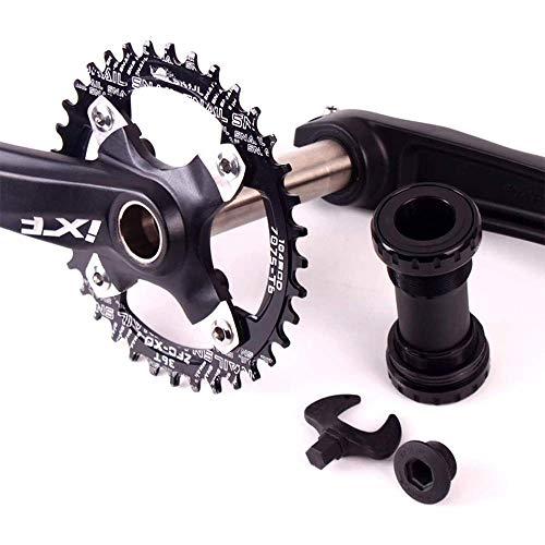 Juego de platos y bielas para bicicleta de montaña, manivela de aleación de aluminio, ancho estrecho, 104 BCD, 32-42T, pernos de soporte inferior de plato, juego de platos y bielas para bicicleta de