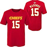OuterStuff Patrick Mahomes Kansas City Chiefs NFL Youth 8-20 Red Mainliner Official Player Name & Number T-Shirt (Youth Large 14-16)