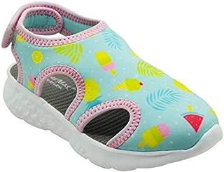 KazarMax Boys & Girls (Unisex) Ice-Cream Print Light Grey Lycra Sandal (Made in India)