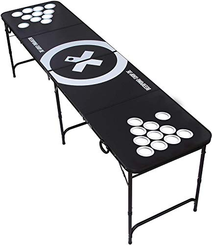 Audio Cup Hole BLACK LINE Table - Beer Pong Tisch inkl. 6 Bälle, Regelwerk & Becherhalter (ohne Becher)