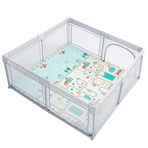 Amazing Deal Baby Playpen Gray Baby Game Playpen with Mat Kids Safety Play Center Yard Playpen Anti-...
