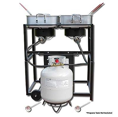 King Kooker 6217 Multi-Purpose Portable Propane Fryer, Black