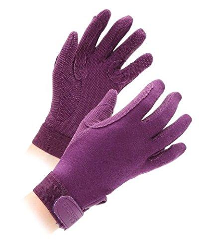 Shires Rękawiczki dziecięce, bawełna (ziarnista struktura) L ciemnofioletowy