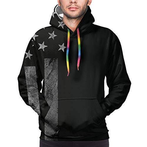 Hangdachang American Flag and Us Navy 1 Youth 3D Printed Hooide Sweatshirt with Pocket XXL