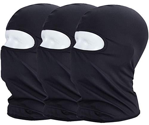 MAYOUTH Sturmhaube Balaclava UV Schutz Gesichtsmasken für Radfahren Outdoor Sports Vollgesichtsmaske Breath, Dunkelgrau 3er Pack, M