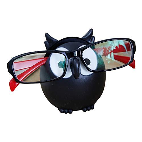 Homu Eulen-Sonnenbrillen-Halterung, Smartphone-Halter, 6 Farben zur Auswahl - Schwarz - 3 x 2.5 x 8 cm