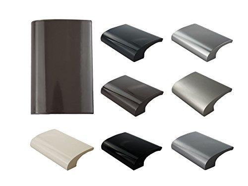 MS Beschläge Balkongriff Ziehgriff Terrassentürgriff Deluxe - Aluminium - diverse Farben (Braun - RAL 8019)