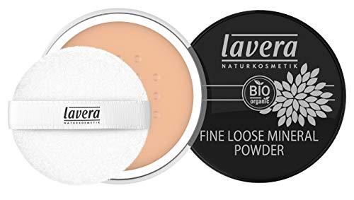 lavera Fine Loose Mineral Powder -Honey 03- Hauchzartes, federleichtes Puder ∙ Natürliche Mattierung ∙ Vegan Naturkosmetik Natural Make-up Bio Pflanzenwirkstoffe 100% natürlich (1x 8 g)