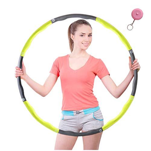 HKBTCH Hula Hoop für Fitness,Reifen mit Schaumstoff ca 1 kg mit Mini Bandmaß für Erwachsene Bewegung und Gewichtsverlust geeignet