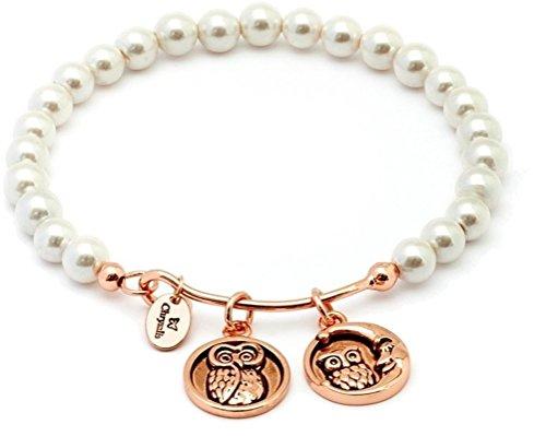Chrysalis Wisdom Simuliert Pearl Pink Erweiterbar Armreif Armband