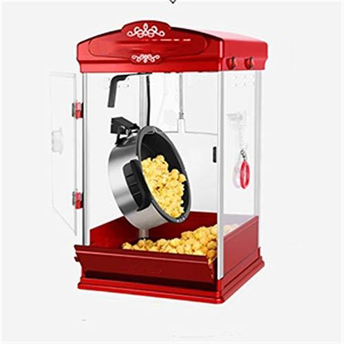 DQM La máquina de Palomitas de maíz Estilo Teatro de Aceite Caliente, la Tetera de Mesa se Puede Quitar para facilitar la Limpieza, es Atractiva, Duradera, la Puerta inclinable facilita el Servicio