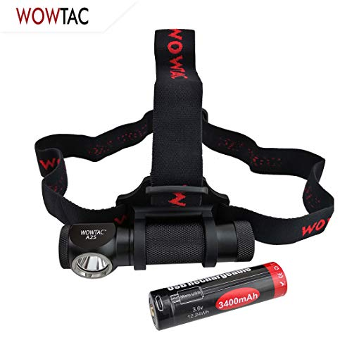 WOWTAC A2S LED Headlamp LED Headlight 6 Modes Max 1050 Lumen Waterproof Headlamps, Super Bright Outdoor Sports Running Walking Camping Reading Hiking Riding Fishing (A2S CW)