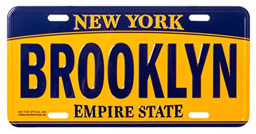 Artisan Owl Brooklyn New York Empire State Blue and Gold Souvenir License Plate
