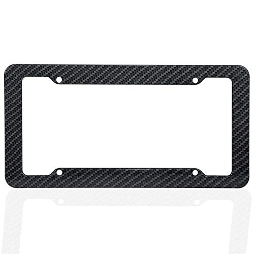 DAXINYANG Colorful Linght Car Carbon Fiber Style License Plate Frames Front & Rear Universal Fit For Toyota Nissan Car Accessories (Color : As the picture)