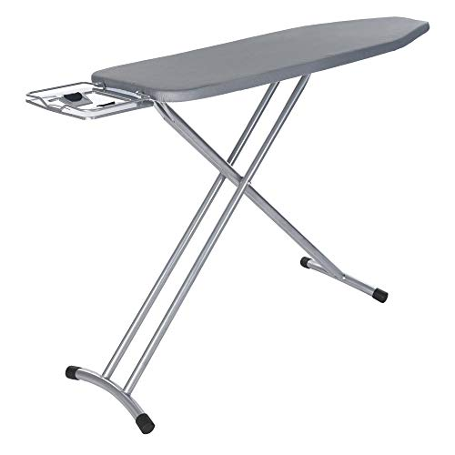 Basde Household Ironing Board, Professional Heavy Weight Ironing Board Extra Wide Top 4-Leg Large Ironing Board, Home Ironing Board 4 Leg Foldable Adjustable Board (A)