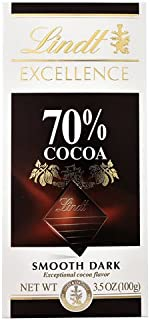 Lindt Excellence Chocolate Bar 70% Cocoa Smooth Dark -- 3.5 oz - 2 pc