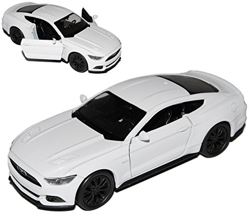 Welly Ford Mustang VI Coupe Weiss Ab 2014 ca 1/43 1/36-1/46 Modell Auto
