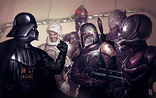 lcyab Adultos Y Niños Rompecabezas 1000 Piezas-Póster De Película De Soldado De Armadura De Star Wars-Divertidos Juegos Y Juguetes Educativos, Rompecabezas De Decoración