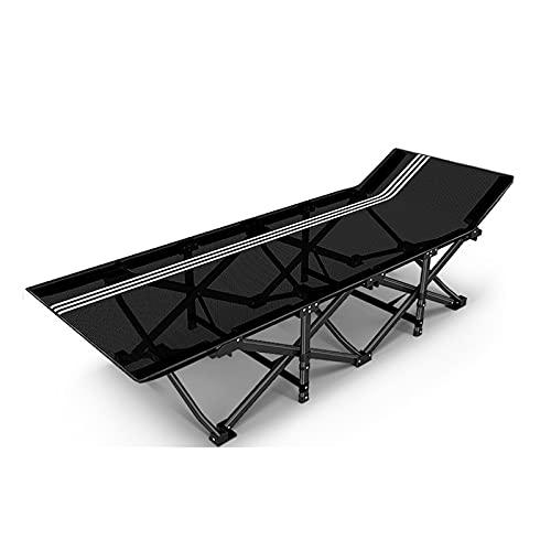 WERCHW Cunas de Camping Plegables, para Adultos Suaves y cómodos para la Oficina Interior al Aire Libre para Dormir, cunas de Servicio Pesado portátiles 500 Libras Siesta Simple sillón reclinable
