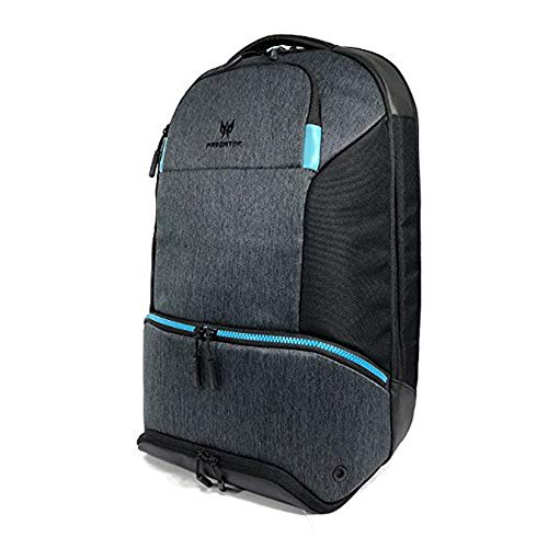 "Acer Predator Gaming Hybrid Backpack - for All 15.6"" Gaming Laptops, Travel Backpack, Multiple Pockets, Black/Teal"