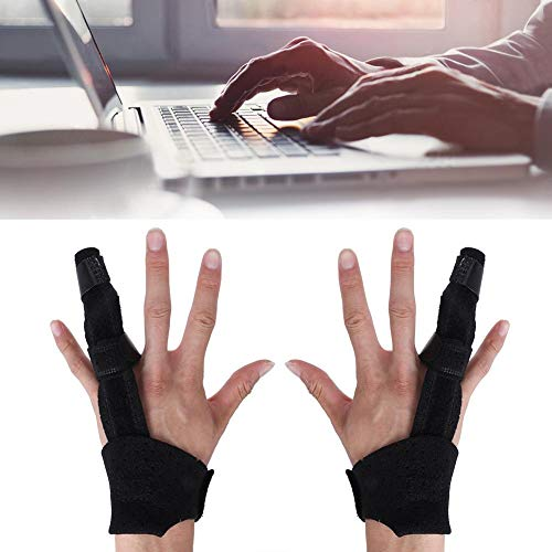 Fingerschiene Finger Korrektur Schiene, Fingerbandagen für Mittelfinger Kleiner Finger Zeigefinger Ringfinger Arthrose Tenosynovitis