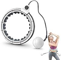 Smart Hula Hoop, Hula Hoop Reifen Gewichtsverlust mit Massagenoppen Intelligente Zählen Einstellbare GrößE Gewichtet...
