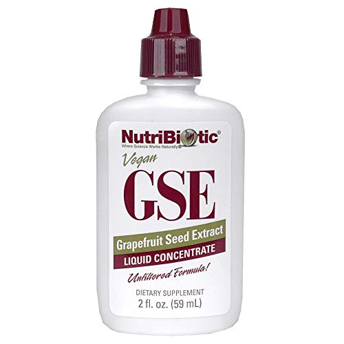 NutriBiotic Grapefruit Seed Extract Liquid Concentrate 2 Fl oz   GSE   Vegan   Potent, High Absorption   Non-GMO   Gluten Free   Dietary Supplement