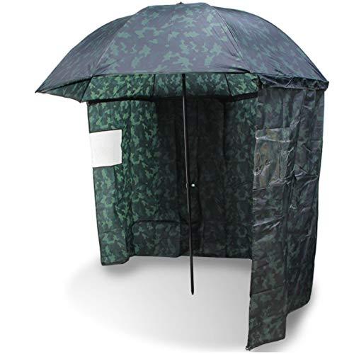 Angel berger balzer parapluie de pêche pliant avec rebords camou
