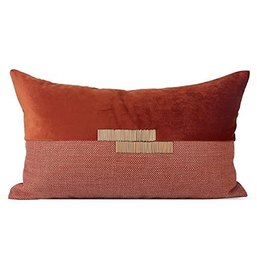 HOUMEL Lanzar cubrientes de cojín Cosquillas de Naranja Suave Cajas de Almohadas lumbares con Relleno para Sala de Estar sofá sofá Cama 30 cm x 50 cm 12 x 20 Pulgadas 438