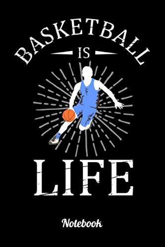 Basketball is life: 6x9 Notizbuch Kariert Basketball Notizheft für Kinder oder Erwachsene als Geschenk