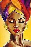 Kit de punto de cruz con diamantes de imitación belleza africana,cristales para manualidades...