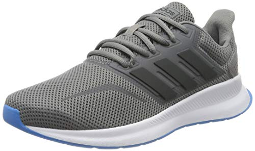 Adidas Falcon Zapatillas de Running Hombre,  Gris (Grey Three F17/Grey Six/Shock Cyan Grey Three F17/Grey Six/Shock Cyan), 42 EU