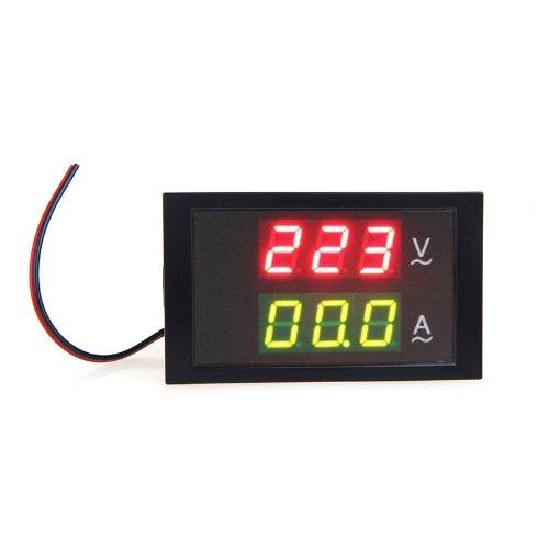 Kkmoon DL85-2042 - Multímetro digital (AC 80-300V 99.9A, medidor de voltaje, amperímetro doble)