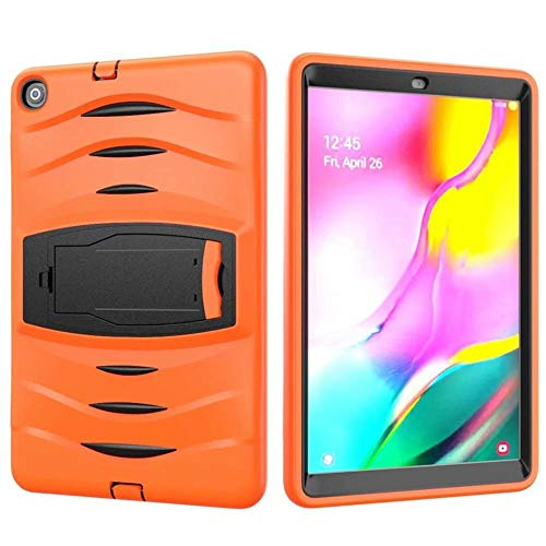 RZL PAD & TAB cases For Samsung Galaxy Tab A 10.1 2019 SM-T510 T515, Heavy Armor Case Shockproof Kids Silicone Cover for Samsung Tab A 10.1 T510 (Color : Orange, Size : Tab A 10.1 2019 T510)